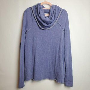 Free People Cocoon Cowl Neck Top Purple